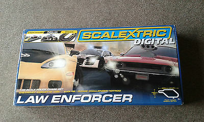Scalextric C1310 Digital Law Enforcer Set with 3 Digital Cars Brand New Boxed