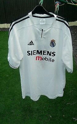 Real Madrid 2004-05 Football Home Shirt Raul 7 ,mens Xl Real Madrid