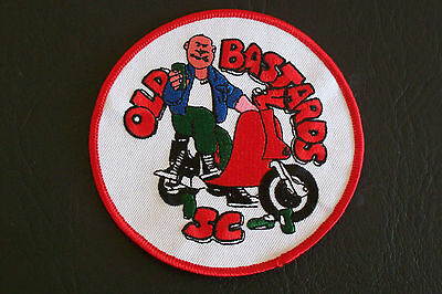 Old B@stards Scooter Club patch Badge , Lambretta , Vespa ,  Northern Soul