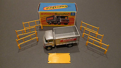 Vintage Matchbox Superfast No11 Scaffold Truck - Boxed in Mint Condition
