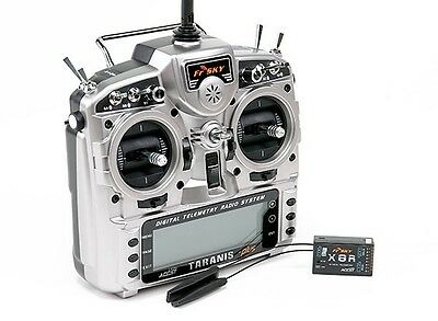 FrSky ACCST Taranis X9D PLUS 16CH 2.4GHz Transmitter with X8R  Receiver Mode 2
