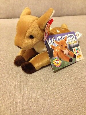 Beanie Babies - Whisper The Deer Retired With Tag And Card 90s