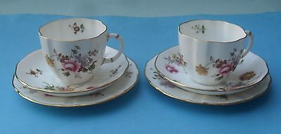 Two Royal Crown Derby 'derby Posies' Cups & Saucers
