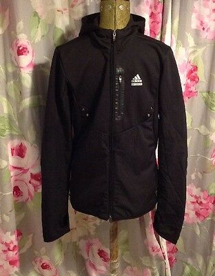 ADIDAS TECHFIT Clima365 Running Jacket Black Size Small - GOOD CONDITION!