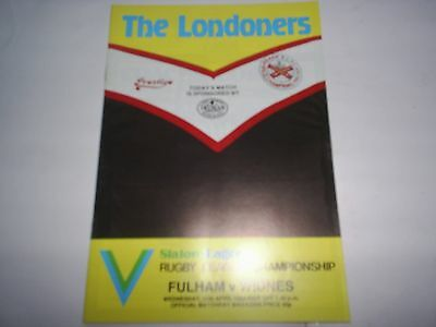 Fulham V Widnes 1983-84