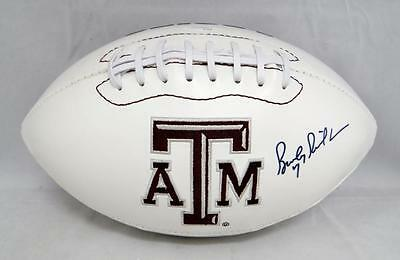 Bucky Richardson Autographed Texas A&M Aggies Logo Football- JSA Witnessed A