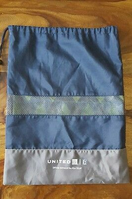 United airlines tote bag (PGA tour) blue and grey