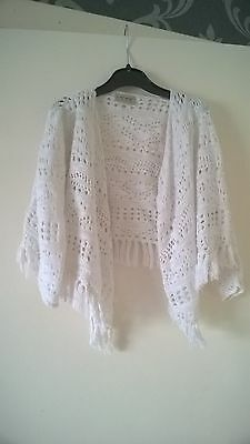 Girls Next white waterfall cardigan age 4years