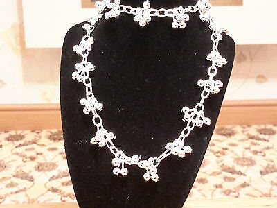 Brand new stunning silver 925 stamped  beaded necklace and gift box