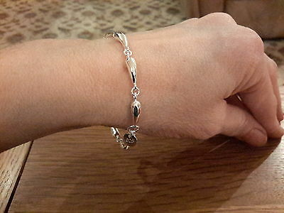 Brand new 925 stamped teardrop chain bracelet with gift box