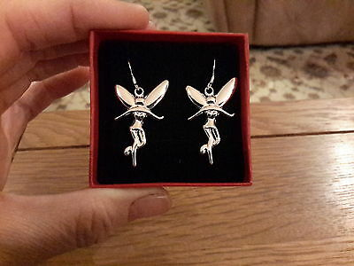 Brand new  silver 925 stamped fairy earrings and gift box