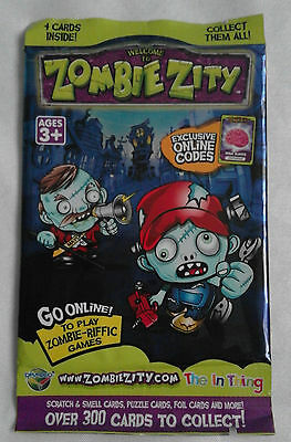 Welcome to Zombie Zity Trading Cards Booster Pack (new sealed, Dracco 2013)