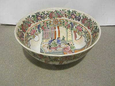 Rose Famille Chinese Bowl Marked