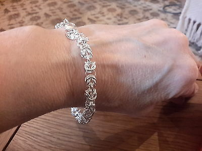 Brand new Silver 925 stamped fancy chunky Bracelet and gift box