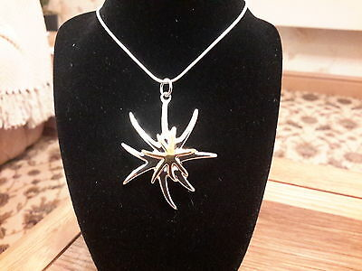 Brand new Silver 925 stamped  two colour  starfish necklace and gift box
