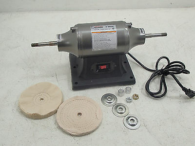 6 inch Benchtop Buffer Heavy Duty 1/2 HP SEE DETAILS