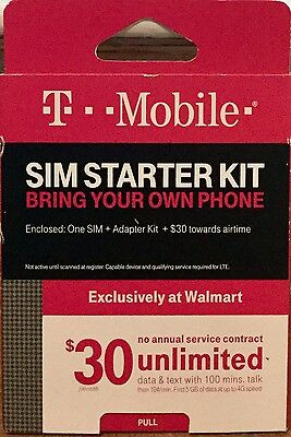 T-Mobile Complete SIM Kit + $30 Towards Air Time