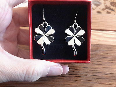 Brand new silver clover leaf earrings and gift box