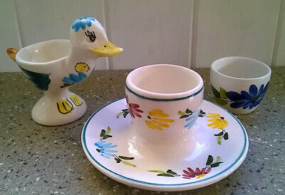 Vintage Toni Raymond Egg Cups & Another Duck Shaped with similar design
