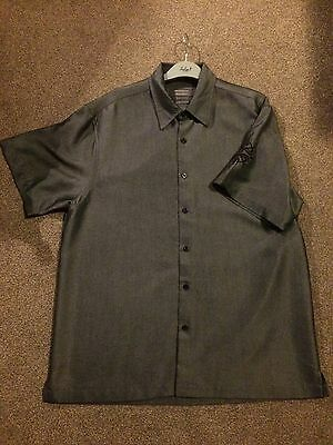 Men's Grey Shirt With Tribal Design On Sleeve Size M