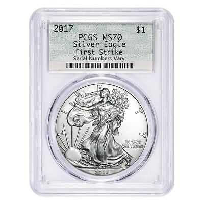 2017 1 oz Silver American Eagle $1 Coin PCGS MS 70 First Strike (Doily)