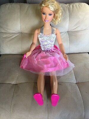 My Size BARBIE Doll Blue Eyes Blonde Hair Mattel Just Play 2005 3 Feet Tall EUC