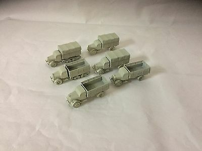Psc German Trucks Wargammes X 6.   15mm Scale Use With  Flames Of War Games