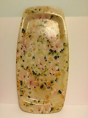 Tray Floral Retro Vintage 60s 70s Fibreglass Drinks Tray