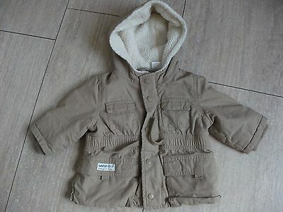 gap baby boy hooded coat age 6-12 months