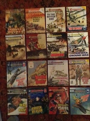 16 commando war comics Lot F