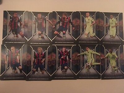 Topps showcase set complet road to victory Barcelona Messi Neymar Iniesta Suarez