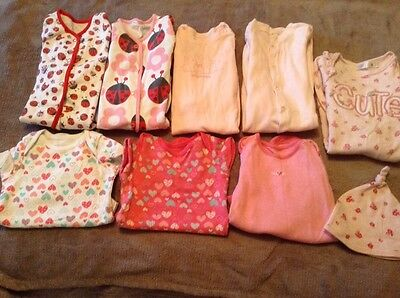 collection of baby girls clothes aged 3/6 months