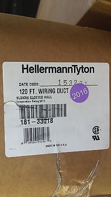 """HellermannTyton Wire Duct Slotted, White, 3""""W x 3""""H, 120 ft Free Local Shipping"""