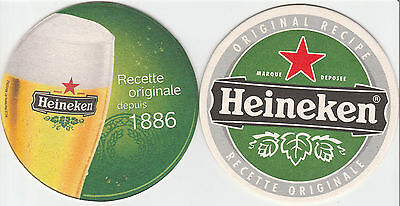 ★ HEINEKEN ★  collection prestige 2011  #1 Sous bock coaster deckel