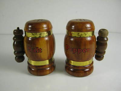wooden mug shaped Salt and Pepper shakers souvenir from Ely, Minnesota
