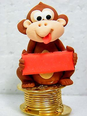Shaking Monkey Car Dashboard Funny Bobble Polymer Clay Sculpted Novelty No.02
