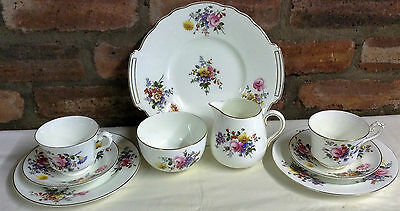 George Jones Crescent China Tea for Two, Swansea Pattern