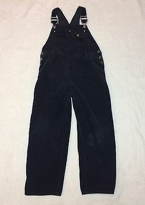 Vtg Amy Byer Girls Large (12-14) Corduroy Overalls 90s Black 100% Cotton