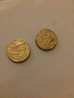Floral Emblem £1 Pound Coins England Wales 2013 Rare Colllectable