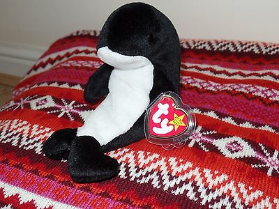 """Oddity - Waves Beanie Baby - ULTRA RARE - with """"Princess"""" Hang Tag - No space"""