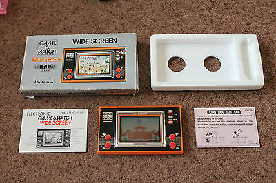 Rare Nintendo Game & Watch Fire Attack Id-29 Boxed Very Good Working Condition