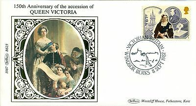150th anniv Quen Victoria Benham cover 1987 Windsor special handstamp
