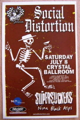 SOCIAL DISTORTION Supersuckers 2006 Gig POSTER Portland Oregon Mike Ness