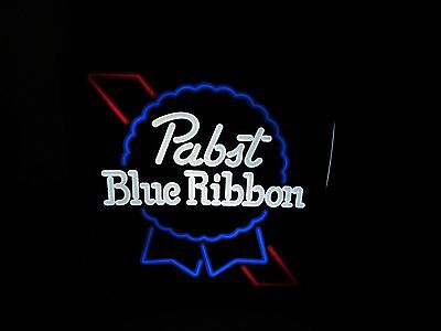 1982 Stunning PABST BLUE RIBBON Neo Neon Lighted Beer Sign NEW OLD STOCK L@@K!!!
