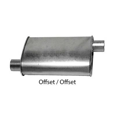 """Turbo Muffler 2.00"""" Dia Offset Inlet 2.00"""" Dia Offset Outlet 4.00"""" X 9.00"""" Oval"""