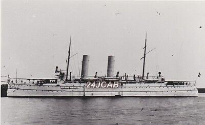 Photograph Royal Netherlands Navy. HNLMS Zeeland (1897) Protected Cruiser. 1905