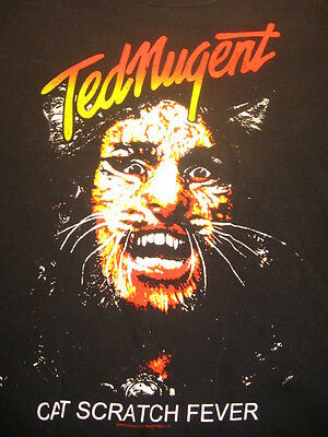 VTG Ted Nugent Cat Scratch Fever Great White Buffalo Tour Concert T Shirt Med
