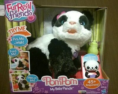 FurReal Friends Pom Pom My Baby Panda Hasbro Pet Brand New!