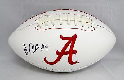Amari Cooper Autographed Alabama Crimson Tide Logo Football- JSA Witnessed Auth