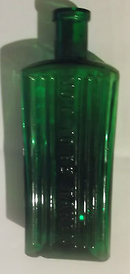 Collectable Vintage Green Glass Bottle NOT TO BE TAKEN